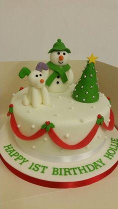 Christmassy Birthday Cake