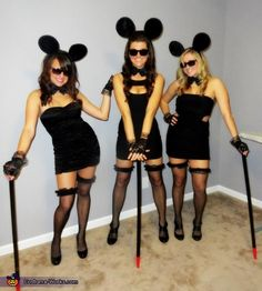 Three Blind Mice - creative Halloween costume (not exactly like this, but I like the idea of three blind mice)