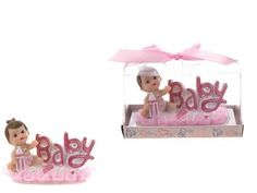 """Baby with """"""""Baby"""""""" Phrase Poly Resin - Pink Case Pack 48"""