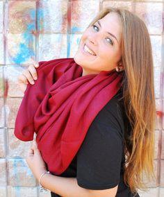 Red Pashmina Scarf Oversized Scarf Pashmina от NORTEstylelikeyou
