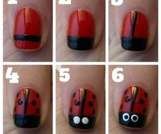 Lady bug nails are so easy - LikeaLady.net