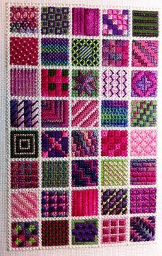 Needle Delights Originals/ Bordado de Tapiceria/ Maria L.Bertolino/ www.pinterest.com...