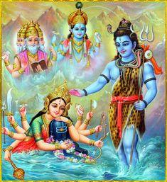 Maa Parvati (Durga) prayed Lord Shiva, her husband . Shiva Art, Shiva Shakti, Krishna Art, Hindu Art, Durga Maa, Lord Krishna, Om Namah Shivaya, Navratri Puja, Kali Goddess