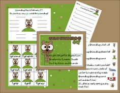 Groundhog Day Mini Unit from Sharing Kindergarten Preschool Groundhog, Groundhog Day Activities, School Holiday Activities, Winter Activities, February Holidays, School Holidays, January, Classroom Freebies, Classroom Projects