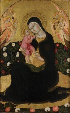 Sano di Pietro - Madonna dell'Umiltà - tempera su tavola - 1440-45 - Museo Civico e Diocesano d'Arte Sacra di Montalcino