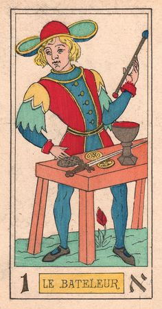 Etude du Tarot Kabbalistique d'Oswald Wirth Intuition, Le Bateleur, Rose Croix, Le Tarot, Old Cartoons, Archetypes, The Conjuring, Cartoon Styles, Sculptures