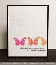 Bella Rose Cards: Uniko Studio Peek- English Country Garden - Butterflies