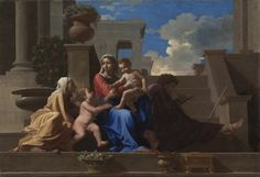 Nicolas Poussin - The Holy Family on the Steps (1648); Cleveland Museum of Art
