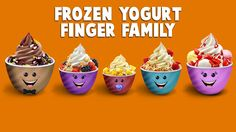 The Finger Family Frozen Yogurt Family Nursery Rhyme Finger Rhymes, Finger Family Rhymes, Family Songs, Kids Songs, Sister Finger, Mommy Finger, Baby Finger, Kids Nursery Rhymes, Rhymes For Kids