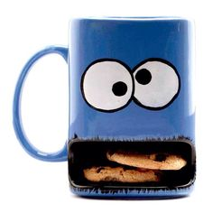 Cookie monster mug!!  http://www.etsy.com/listing/94436095/monster-cookie-mug-milk-and-cookies-dunk