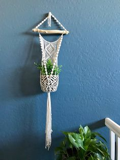 Macrame Plant Hanger Made with 100% Cotton Cord ***Pot and Plant not included***