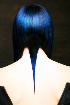 The back! Blue black hair by Lisa Harris for Gila Rut Salon, dark blue, navy…