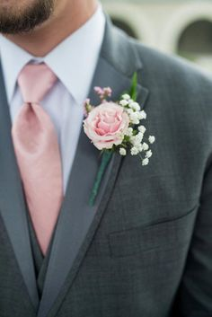 I love the Blush Carnation Boutonniere Carnation Wedding Bouquet, Carnation Boutonniere, Corsage And Boutonniere, Corsage Wedding, Boutonnieres, Wedding Boutonniere, Prom Flowers, Wedding Flowers, Floral Wedding
