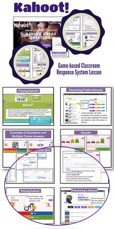 •Kahoot is a game-based classroom response system •Create and play quizzes, discussions and surveys using any device with a web browser •Motivate participation through game-based learning and rewards in a social setting.  Students Love Kahoot!