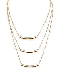 Another great find on #zulily! Gold Triple-Strand Bar Pendant Necklace by Barzel #zulilyfinds