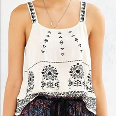 UO Black Aztec Patterned Tank Just the tank top only! Size M. Worn only once. More photos to come soon! No trades! Urban Outfitters Tops