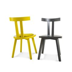 SIXT Chairs in lacquer, solid oak or walnut. Innovation, Solid Oak, Bar Stools, Sweet Home, Chairs, Furniture, Home Decor, Bar Stool Sports, Decoration Home