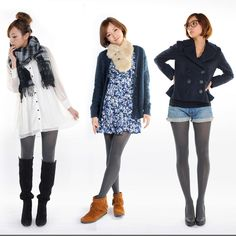 Grey Tights, Knee Boots, White Dress, Shoes, Dresses, Fashion, Vestidos, Moda, Zapatos