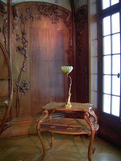 Art Nouveau furniture in Musee d'Orsay, Paris