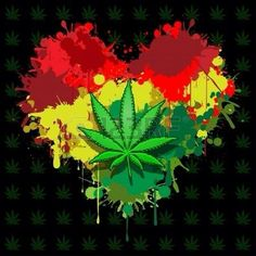 Illustration about Illustration of marijuana leaf and hearts on a black background. Illustration of cannabis, marihuana, picture - 29306239 Cannabis Wallpaper, Weed Wallpaper, Marijuana Leaves, Medical Marijuana, Fotos Do Bob Marley, Reggae Art, Stoner Art, Skull Art, Street Art