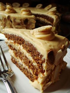 Butterscotch Banana Cake with Caramel Cream Cheese Frosting!!