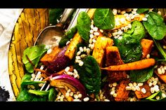 Roast vegetable salad with tahini and yoghurt dressing – Recipes – Bite. Looks good but use the oh she glows tahini dressing instead? Roasted Vegetable Salad, Roasted Vegetables, Vegetable Recipes, Vegetarian Recipes, Cooking Recipes, Healthy Recipes, Vegetable Dishes, Salad Dressing Recipes, Salad Recipes