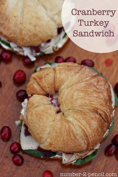 Cranberry Turkey Sandwich ~These can easily be made the night before. Perfect for taking to work, bridal/baby showers, or anytime!