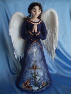 Christmas Angel Tree Topper MADE TO ORDER, Needle Felted Sculpture, Wool Angel on Etsy, 843,31 €