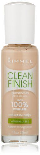 Rimmel Clean Finish Foundation Warm Ivory -- Want additional info? Click on the image.
