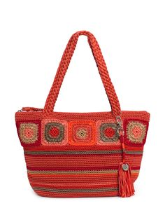 Kenya Medium Round Tote, Radiant Multi