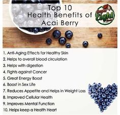 Health benefits for acai berry: