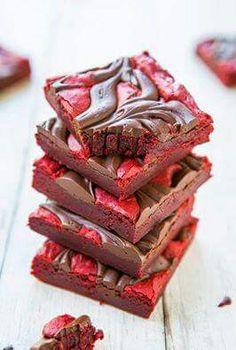 Red velvet chocolate brownies