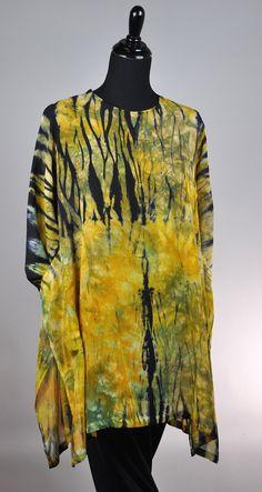High Pocket Pullover Earth Tones ...silk chiffon