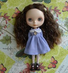 Mooji dress  Smell Lavender  for Blythe by moofafa