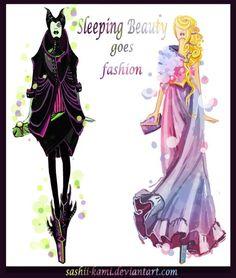 Aurora e Maleficent