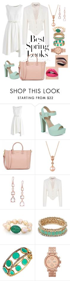 """""""Pure White Spring"""" by asheschavon ❤ liked on Polyvore featuring H&M, Chicwish, Call it SPRING, LE VIAN, Ippolita, STELLA McCARTNEY, Coco Lane, FOSSIL, whitespring and sprinkledstyle"""
