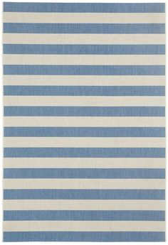 Palm Cove Blueberry Striped Outdoor Area Rug