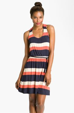 Max & Mia Belted Colorblock Dress