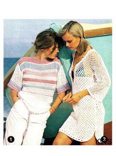 5b6c130913 Items similar to Vintage 70's Crochet Pattern - Bikini