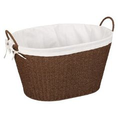Stained Paper Rope Lined Laundry Basket : Target $28.99