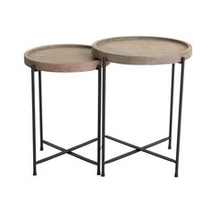 FAMILY ROOM - TG Sawyer nesting side tables 16.5Dx21h