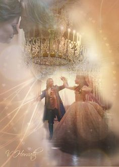 """Rumbelle art from the Beauty and the Beast dance in """"A Tale of Two Sisters"""" - by Vicky Horvath Abc Tv Shows, Movies And Tv Shows, Once Upon A Time, Rumple And Belle, Emilie De Ravin, Addiction, Rumpelstiltskin, Tale As Old As Time, Robert Carlyle"""