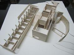 Koshino House - Tadao Ando / Maquette 2 by ~LzCassiopeia on deviantART Tadao Ando, Concept Architecture, Interior Architecture, Landscape Architecture, Koshino House, Public Space Design, Plane Design, Arch Model, Sustainable Architecture