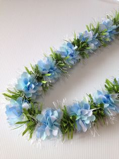 Something Blue (Ribbon lei)