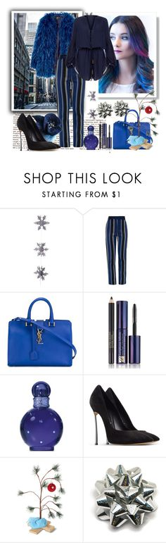 """""""Untitled #587"""" by misaflowers ❤ liked on Polyvore featuring East of India, Proenza Schouler, Yves Saint Laurent, Estée Lauder, Britney Spears, Casadei and ViX"""