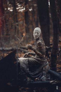 Alone in the woods : creepy