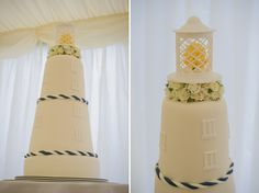 Lighthouse wedding cake. Photo: http://oacphotography.com