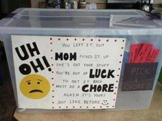 This was pretty cute.  What a great way to teach kids accountability.
