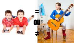 Jouer un jeu vidéo ou un instrument de musique. Quelle activité est plus productive?