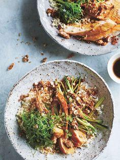 teriyaki chicken and cauliflower rice bowl